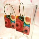 Dangle Earrings from Reproduction of Abstract Art by Dhanat