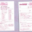Sailor Moon Carddass EX 1 Checklist Card