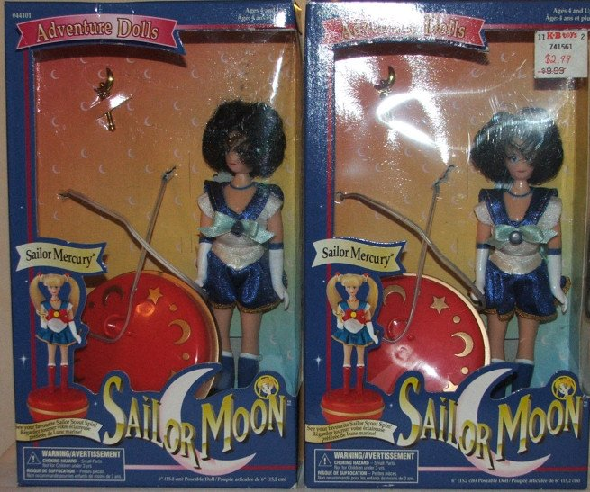 NIB 6 Inch Sailor Mercury Doll with Spinning Base