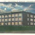 High School by Moonlight in Harrisonburg, Virginia Vintage Postcard
