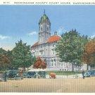 Rockingham County Courthouse in Harrisonburg, Virginia Vintage Postcard