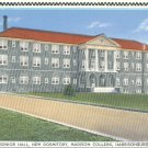 Senior Hall Dormitory at Madison College in Harrisonburg, Virginia Vintage Postcard