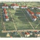 Airplane View of State Teachers College in Harrisonburg, Virginia Vintage Postcard