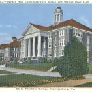 Wilson and Walter Reed Halls at State Teachers College in Harrisonburg, Virginia Vintage Postcard