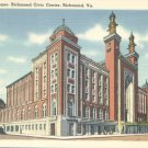 The Mosque, Richmond Civic Center in Richmond, Virginia Vintage Postcard