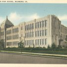 Thomas Jefferson High School in Richmond, Virginia Vintage Postcard