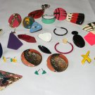 Junk Drawer Jewelry Parts Lot, Totally 80s Themed Pieces