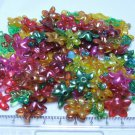 Brightly Colored Flowers and Leaves Acrylic Beads Lot