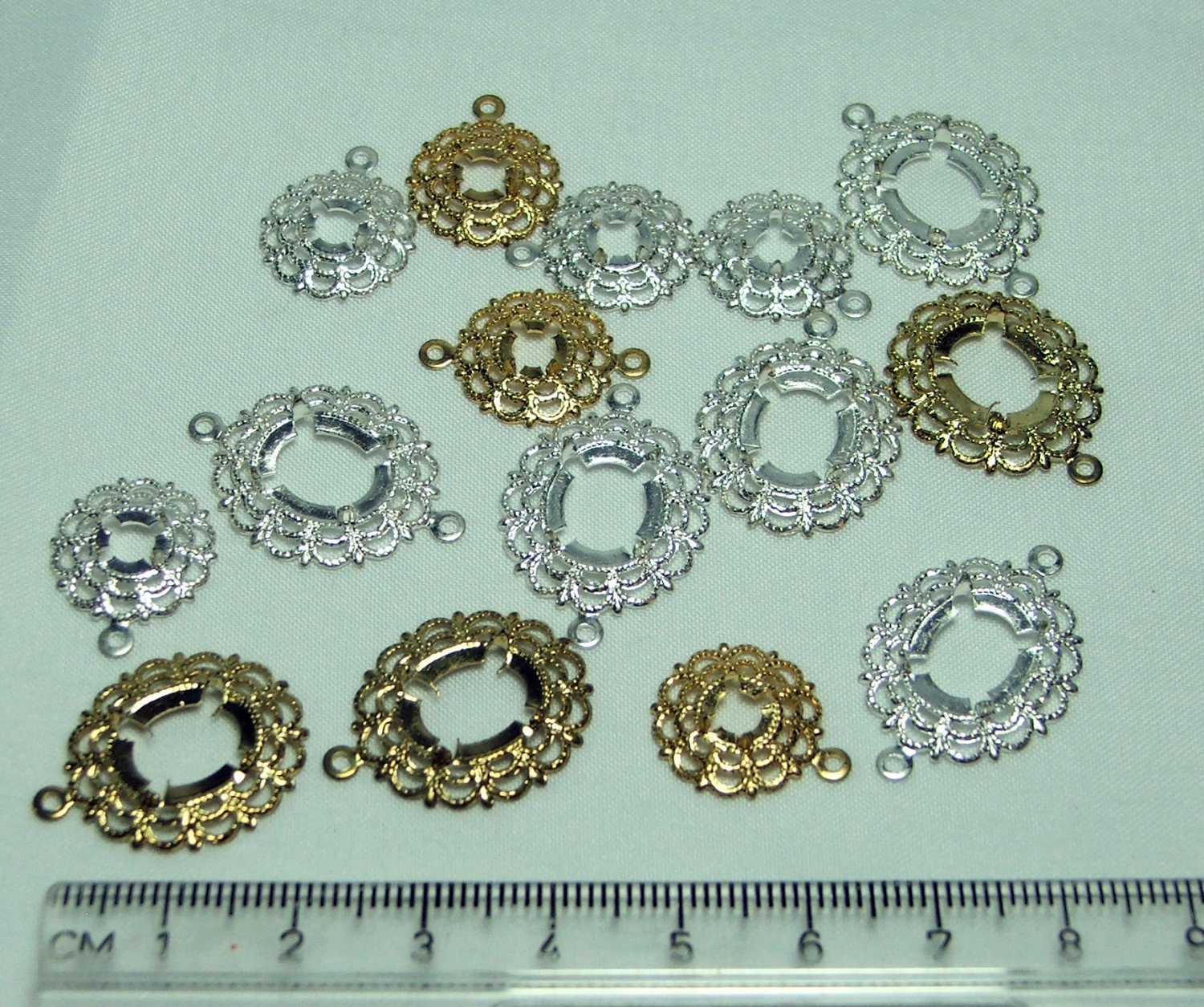 Lot of Filigree Cabochon Settings with Prongs