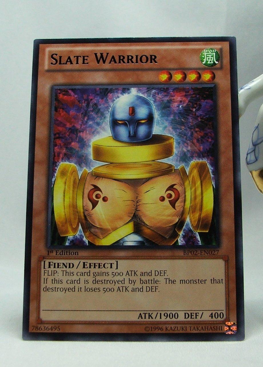 YuGiOh Battle Pack 2 War of the Giants First Edition BP02-EN026 Slate Warrior