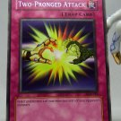 YuGiOh Legend of Blue Eyes White Dragon LOB-061 Two-Pronged Attack