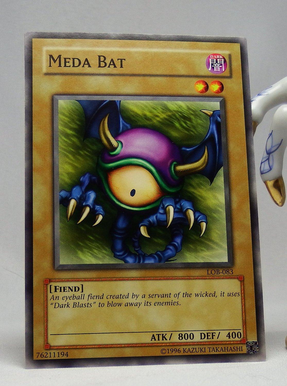 YuGiOh Legend of Blue Eyes White Dragon LOB-083 Meda Bat