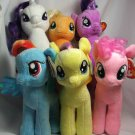 "Set of 6 My Little Pony 6"" Ty Beanie Babies Plush"