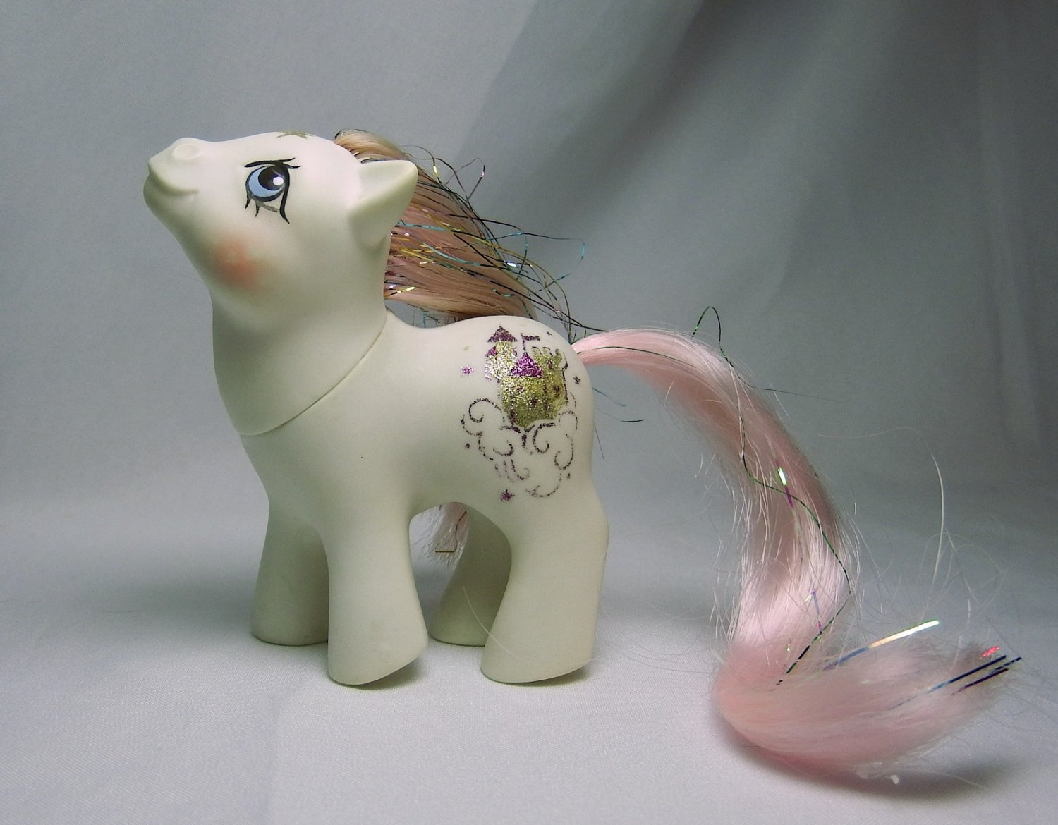 Vintage G1 My Little Pony Baby Princess Sparkle (Partially Rehaired)