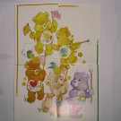Care Bears 1994 Trading Stickers Set #106, 107, 108, 109