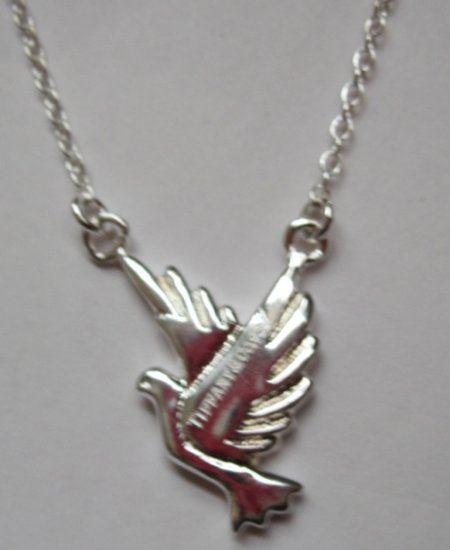 Silver Plated Tiffany Inspired Dove Necklace