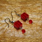 Bloody Cube Earrings