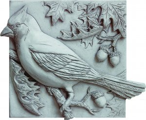 Cardinal in Oak