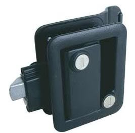 Fastec 43610-06-SP Black Trimark Style RV Trailer Entry Deadbolt Lock