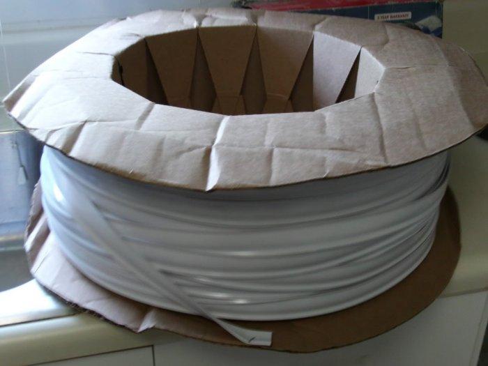 """100ft 1"""" Vinyl Insert Molding Colonial White"""