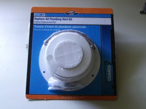 Camco 40033 Sewer Plumbing Roof Vent Cap Complete Kit w/base & seal
