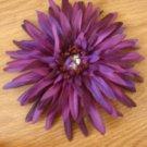 Purple Gerbera Daisy Flower Clip