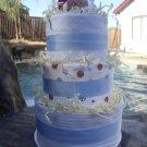 Blue Sports Fan Diaper Cake
