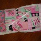 Pink Baby Girl Diaper Burp Cloths