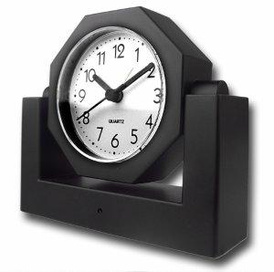 Covert Wireless Spy Camera Alarm Clock + Receiver w/LCD