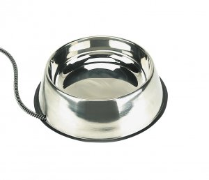 Heated Stainless Steel Pet Bowl