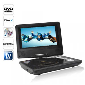 Portable Gaming/TV/DVD Player with 7 Inch LCD Widescreen + Copy Function