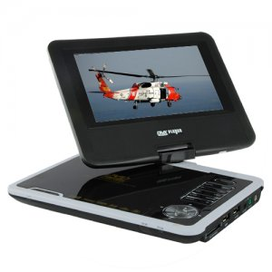7 Inch Portable DVD Player with Swivel Screen + Analog TV