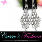 Silver rhinestone chandelier