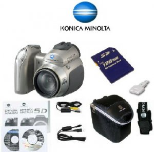 Konica Minolta DIMAGE Z20 Digital Camera 5.0MP, 2560x1920, 8x Opt Zoom,