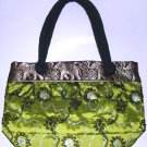 SALE! embroidered zippers tote bag , womens silk bag ,conservative gift for old lady