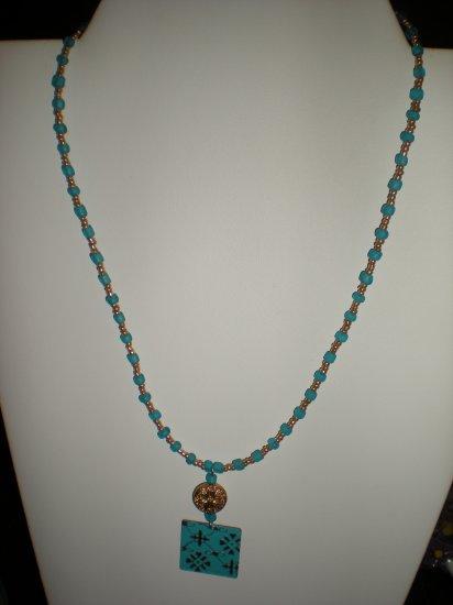 Golden Blue Necklace