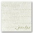 I Love Grandpa 12 x 12 Scrapbook Paper