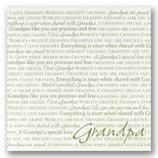 I Love Grandpa 12 x 12 Scrapbook Paper