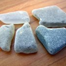 5 Genuine GRAY Beach Sea Glass SEAGLASS