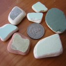 7 BEACH SEA GLASS CERAMIC POTTERY MOSAIC  MIX PENDANT