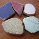 5 BEACH SEA GLASS CERAMIC POTTERY MOSAIC  MIX PENDANT