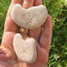 2 Natural Heart Stone Pebble Beach Sea LOVE Rocks  L
