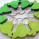 NEW WOOD FROG KEYCHAIN KEY RING CHAIN LEGNOMAGIA ITALY