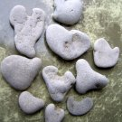 10 Natural Heart Stones Pebble Beach Sea LOVE Rocks