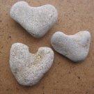 3 Natural Heart Stones Pebble Beach Sea LOVE RockS B8