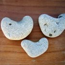 3 Natural Heart Shaped Stone Pebble Beach Sea LOVE