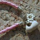 Holy Holey HOLE Stone Pink Bracelet W Magen Strar David