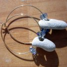 Tiny Powerful  Holey Stones Earrings WICCA Holy Fairy