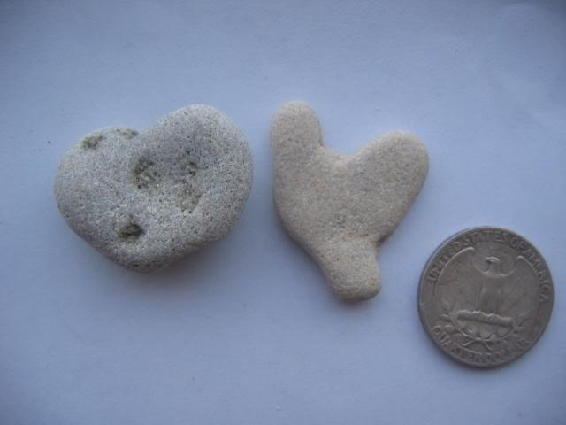 2 Natural Heart Stone Pebble Beach Sea LOVE RockS  rk