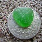 TINY small Genuine Beach Sea Glass Green  Jewelry Gems